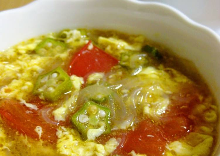 Hot and Sour Soup with Tomato, Okra, and Bean Thread Noodles