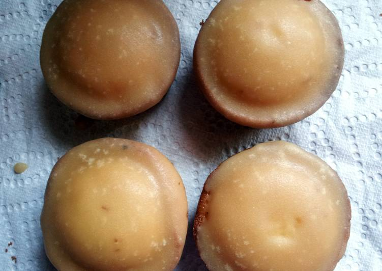 cupcakes with brown sugar icing