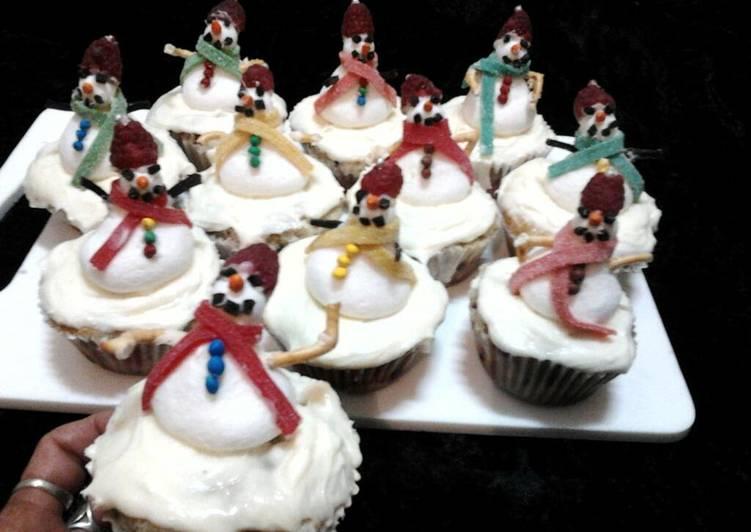 Steps to Prepare Ultimate Ladybirds Christmas Snowmen Summer Fruitcupcakes .