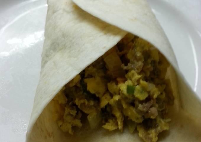 Real breakfast burritos