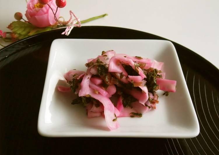 Pickled Sakura and Japanese Turnips