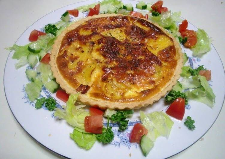 Easiest Way to Prepare Speedy Easy Potato Quiche Made From Scratch