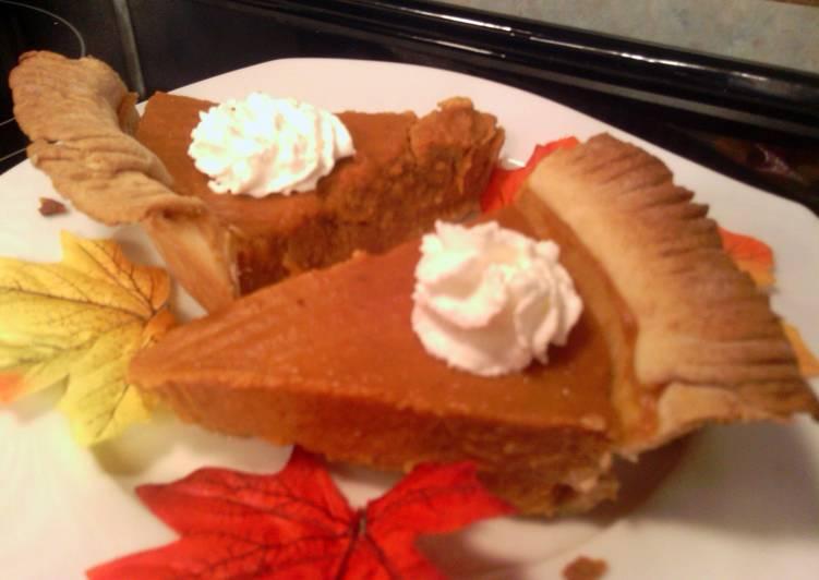 """sunshine """"s maple pumpkin pie"""