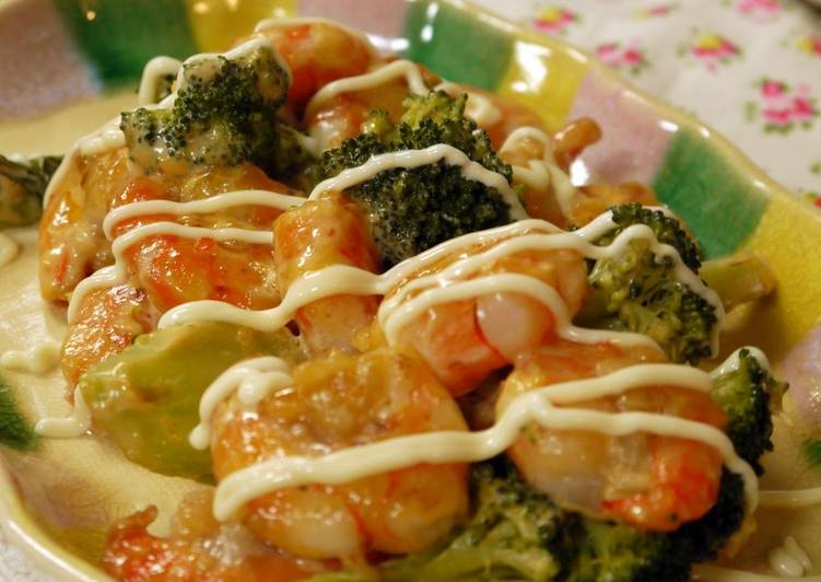 Easy, Tasty, Non-fried Shrimp in Mayonnaise Sauce