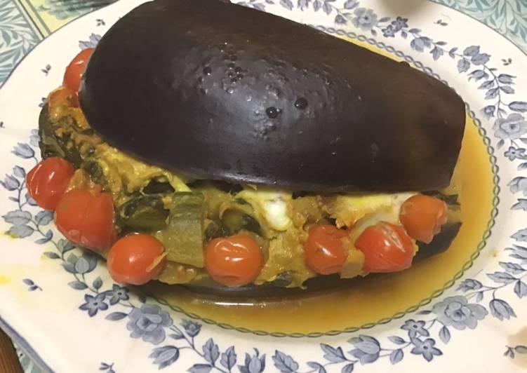 Comment Préparer Des Aubergines farcies épinards courgettes tomates cerises et mozzarella