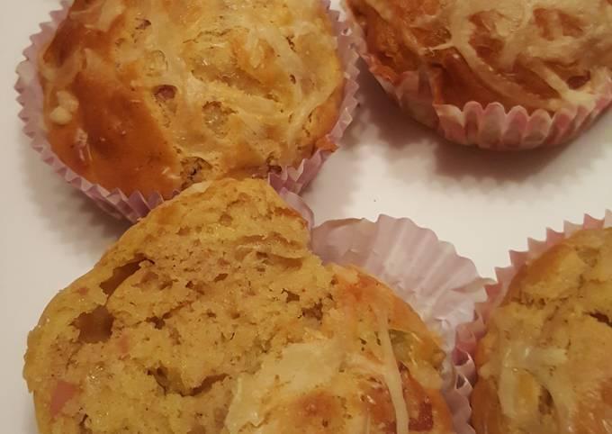 Muffins au jambon et olives