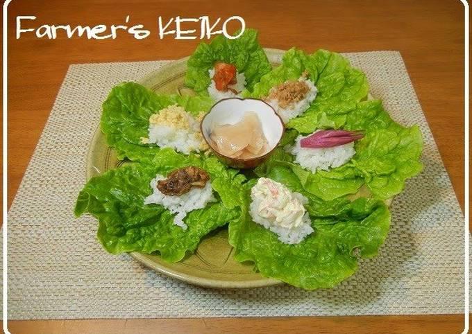 [Farmhouse Recipe] Lettuce Wrap Sushi