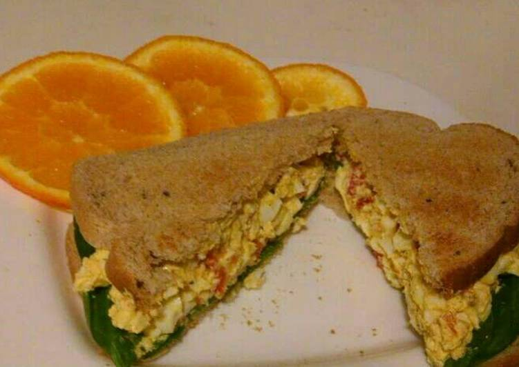 How to Make Super Quick Homemade Curry Egg Salad Sandwich