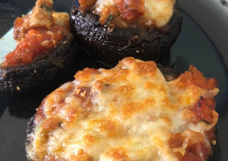 Easiest Way to Make Super Quick Homemade Portobello Pizza Bites