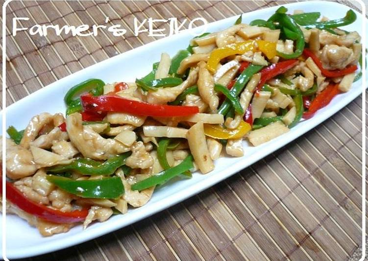 Farmhouse Recipe: Stir Fried Chicken Breast (Chinjao Rosu)