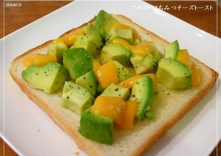 Avocado Honey Cheese Toast