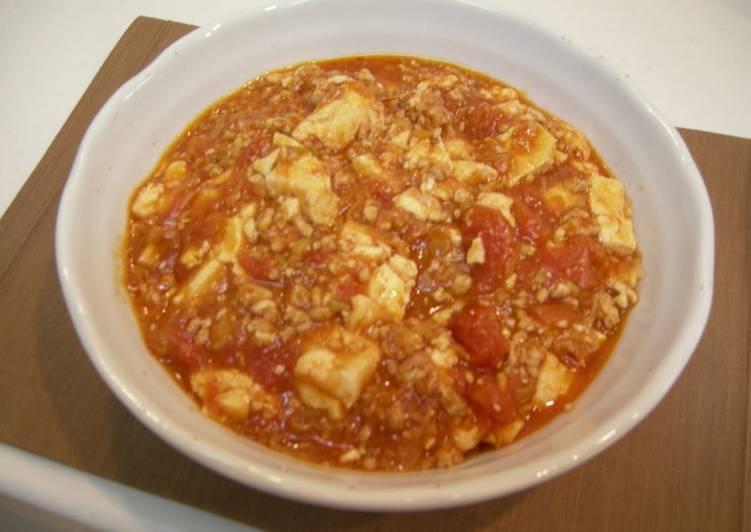 Steps to Prepare Favorite Tomato Mapo Doufu with Minced Chicken