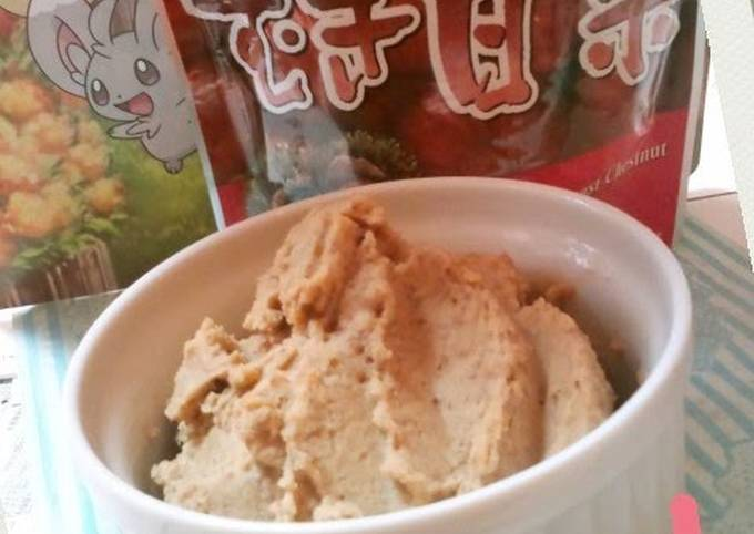 Sweet Chestnut Paste Made with Ice Cream
