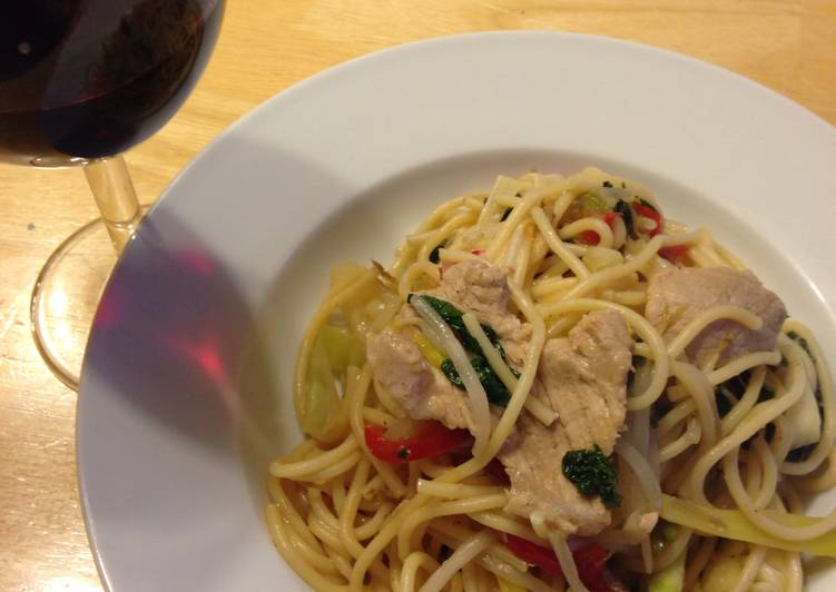Easiest Way to Prepare Appetizing Miso Butter Pork Pasta