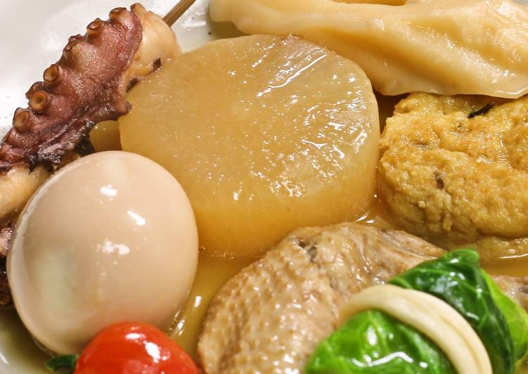 What are some Dinner Easy Any Night Of The Week Authentic Oden with Chicken Stock & Bonito-Konbu Dashi