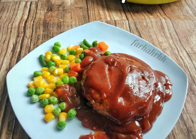 Steak Tempe with Barbeque Sauce