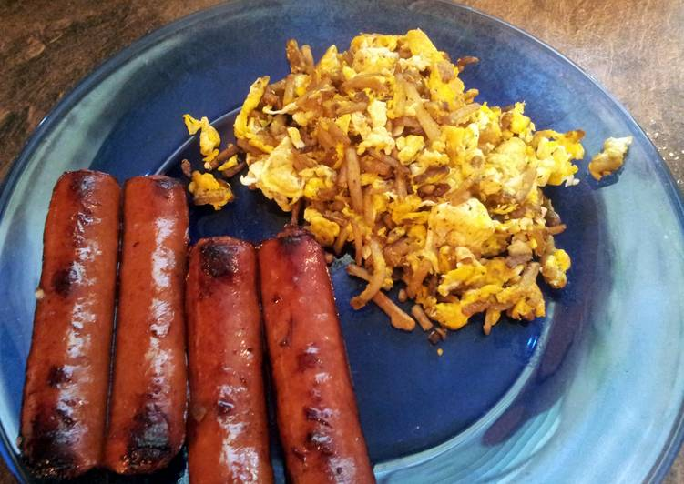 Creole Scramble Eggs & Potatoes