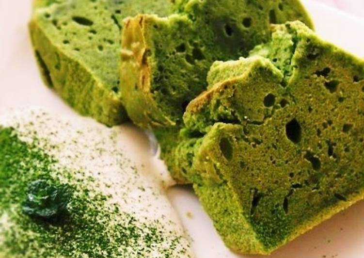 Easiest Way to Make Ultimate Healthy Rice Flour and Soy Milk Matcha Pound Cake