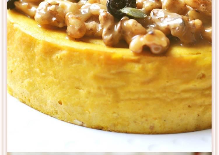 How to Make Ultimate Kabocha Squash Cheesecake with Caramelized Walnuts