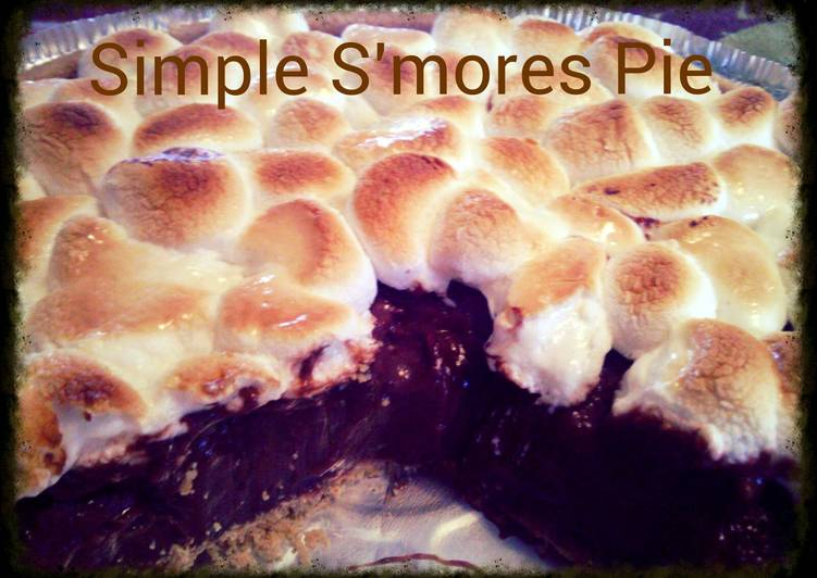 Simple S'mores Pudding Pie