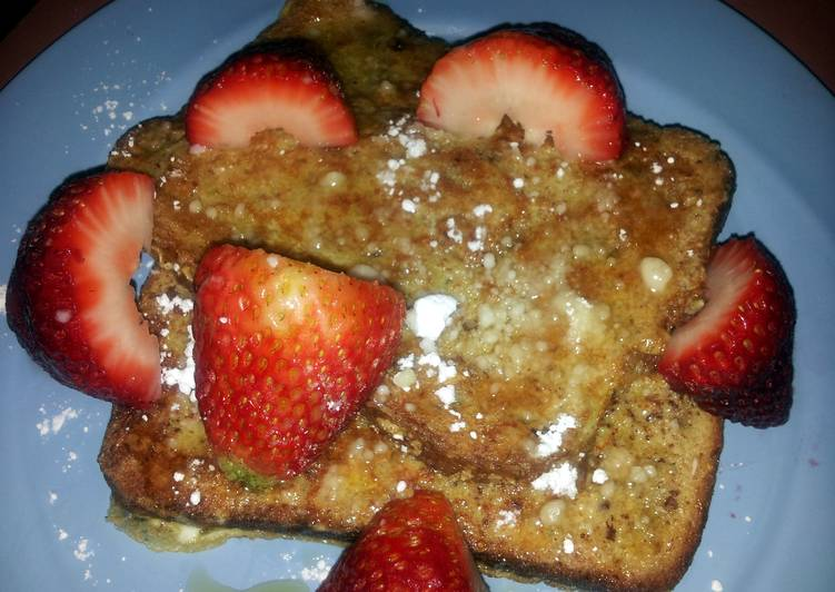 Recipe of Most Popular Strawberry french toast with a health kick