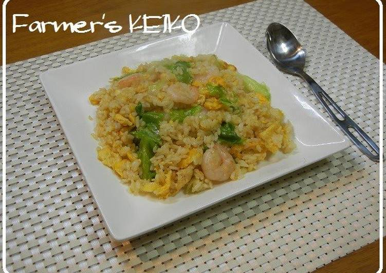 [Farmer's Recipe] Fried Rice with Prawns and Lettuce