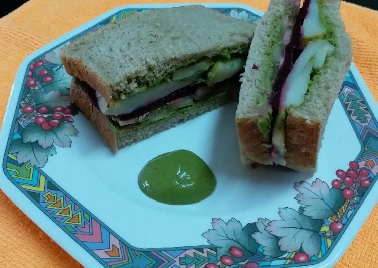 5 Minute Steps to Prepare Summer Vegetable Sandwich