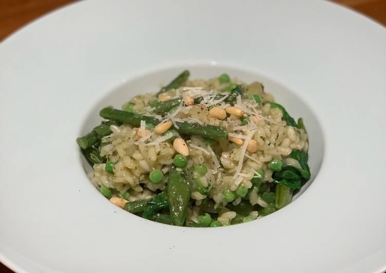 Recipe of Ultimate Green Veg & Pesto Risotto