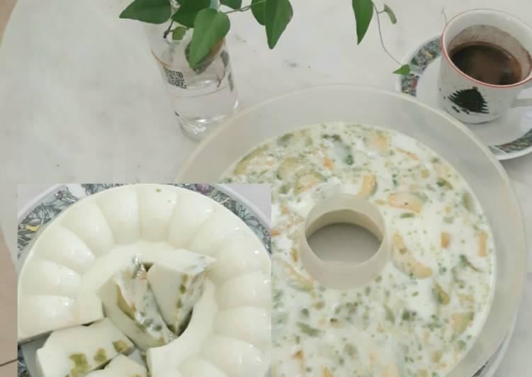 Pudding Susu Alpukat (Avocado Milk Pudding)