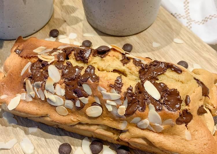 Recette Délicieuse Cake aux pépites de chocolat sans matière grasse