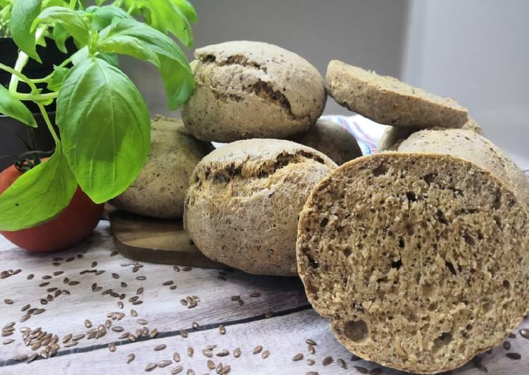 Glutén, élesztő és lisztkeverékmentes zsemle recept foto