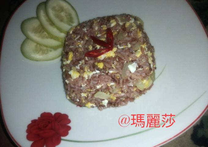 Nasi goreng beras merah    Diet golongan darah O