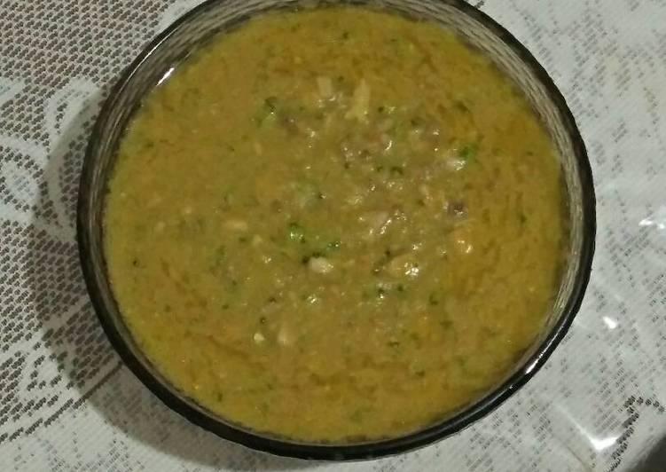 Sup Krim Ayam Cincang Brokoli (menu anak 1 thn)