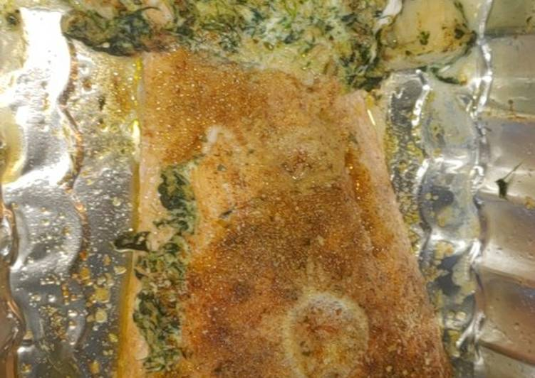 Recipe: Appetizing Stuffed seafood salmon