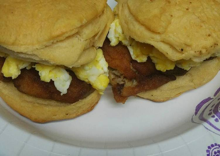 Recipe: Appetizing Fish and Egg Biscuits (American biscuits)