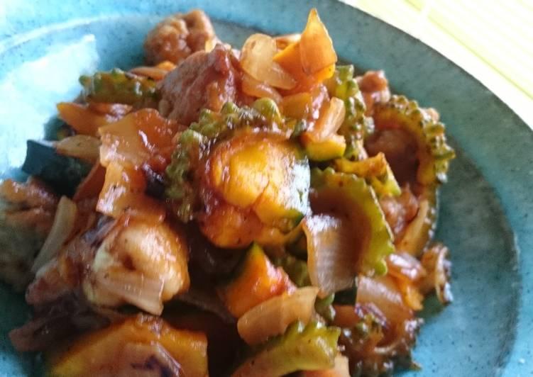 Sweet & sour pork of summer vegetables