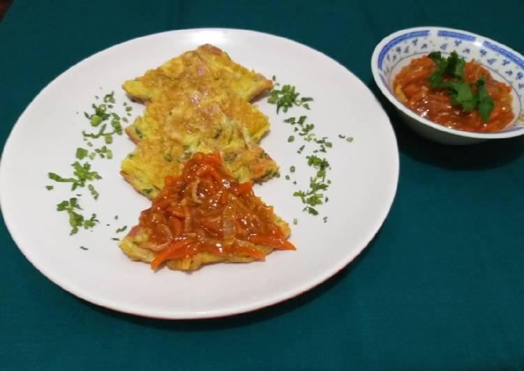 198.Telur dadar sayuran a la fuyung hai