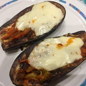Berenjenas al horno con salsa tomate y queso súper diet!! Día 1