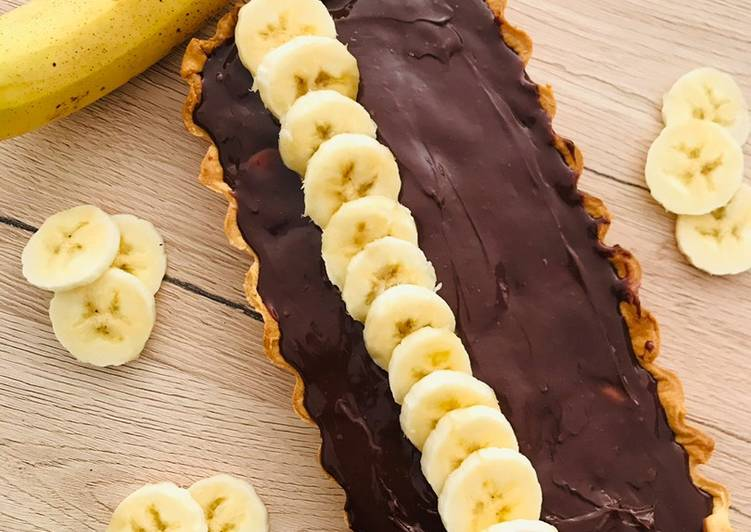 Tarte chocolat bananes
