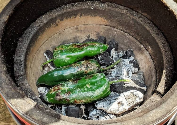 How to Make Quick Roasted Poblano Peppers
