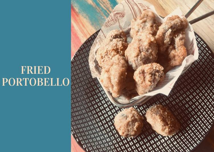 Fried portobello