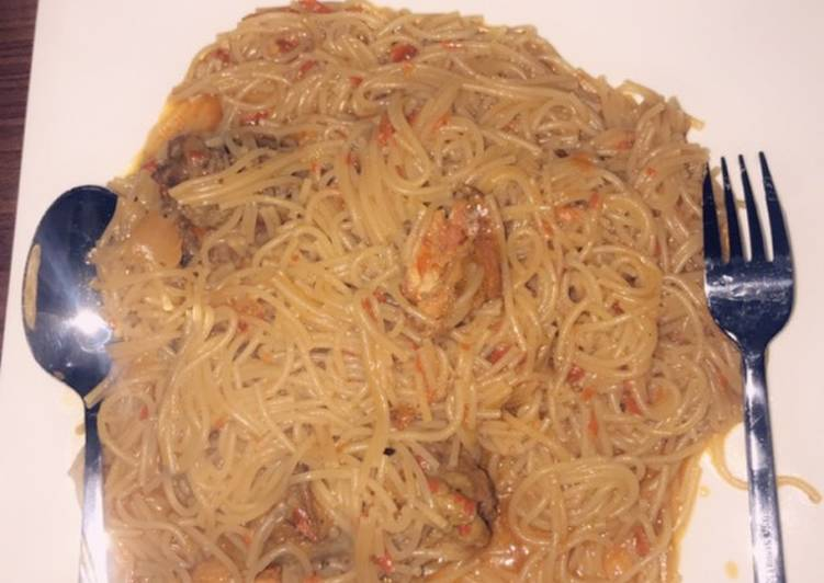 Turn to Food to Elevate Your Mood Jollof Spaghetti