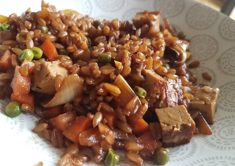Fried Rice Végétarien revisité au petit épeautre