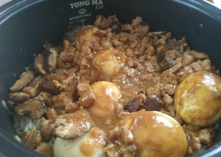 Langkah Mudah untuk Membuat Nasi tim ayam ricecooker yang Enak Banget