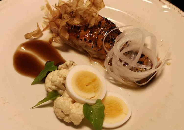 Recipe: Yummy Grilled Salmon Hoisin sauce