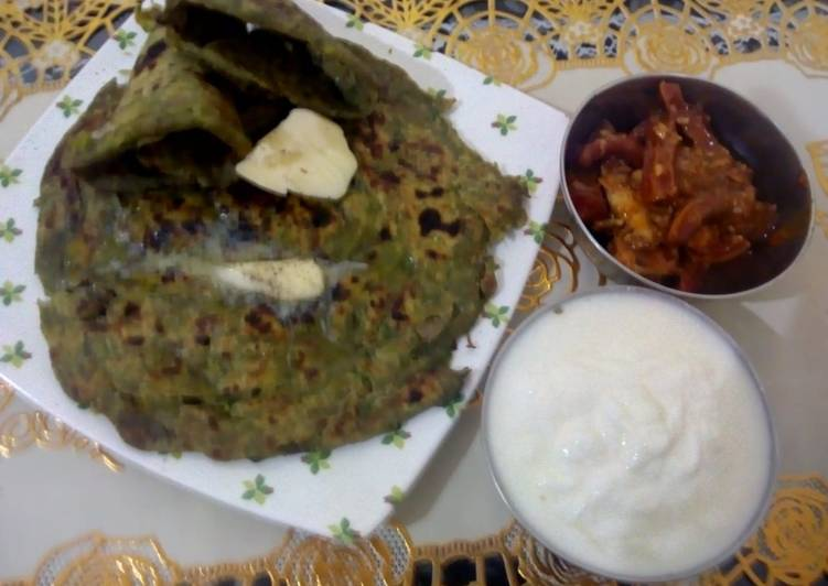 Step-by-Step Guide to Make Speedy Methi  onion paratha