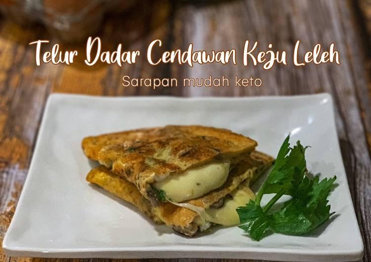 Telur Dadar Cendawan Keju Leleh Keto - velavinkabakery.com