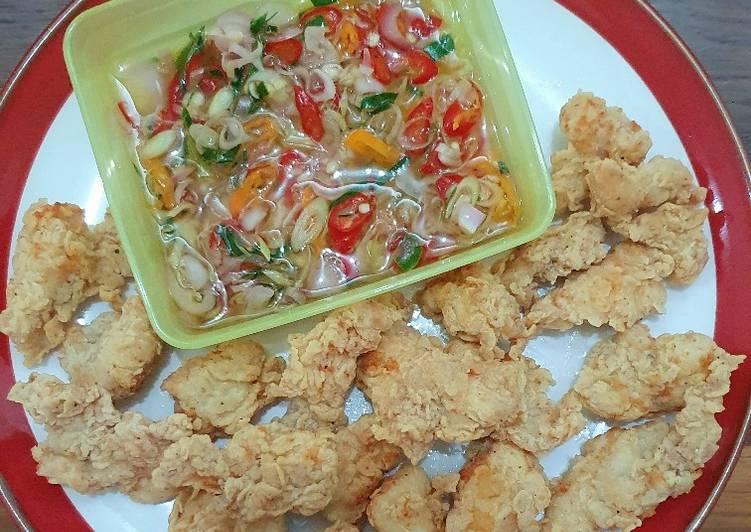 Resep Ayam Goreng Tepung & Sambal Matah Anti Gagal