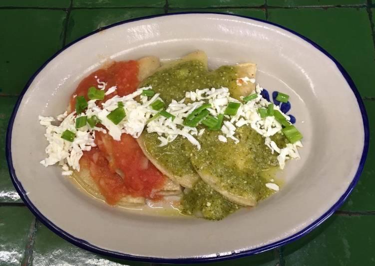 Enchiladas bicolores