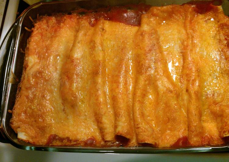 Recipe: Comfortable cream cheese chicken enchilada
